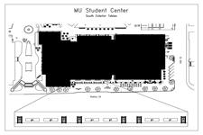 MU Student Center Tables 1-4 (Outside)